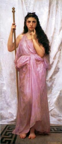 Priestess, painting by William Adolphe-Bouguereau