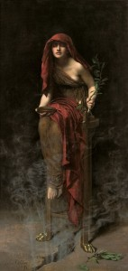 Priestess of Delphi by John Collier Probably the one I have the most in common with of all the great ancient priestesses.